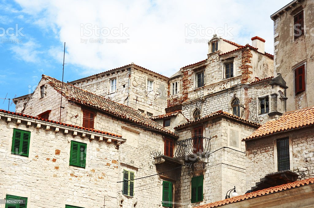 Ancient Houses. stock photo