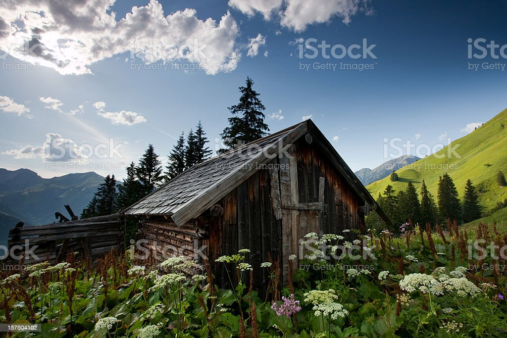 ancient hut royalty-free stock photo