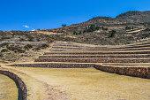 Ancient Inca circular terraces in Moray, Peru