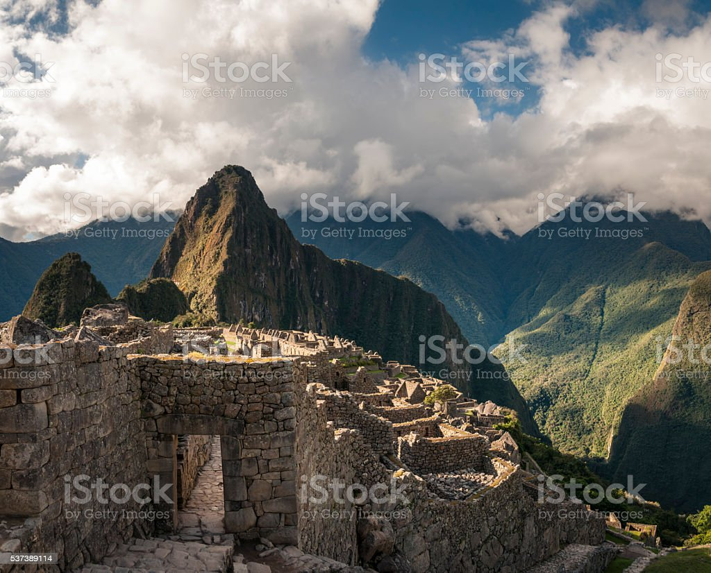 Ancient Inca City Of Machu Picchu In Peru stock photo