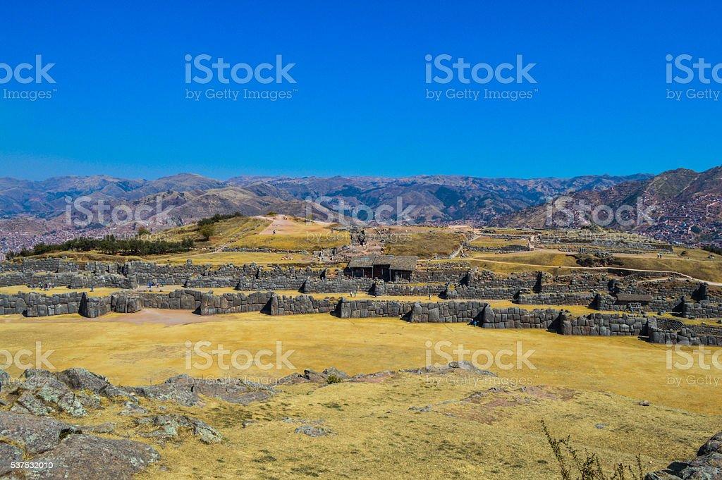 Ancient Inca ruins - Sacsayhuaman near Cusco, Peru stock photo
