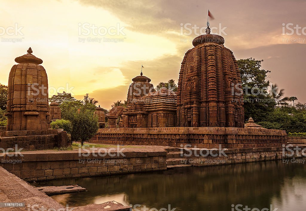 Ancient Indian Temple stock photo