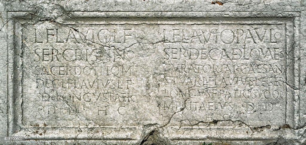 Ancient Inscription From Pisidia, Roman Period stock photo