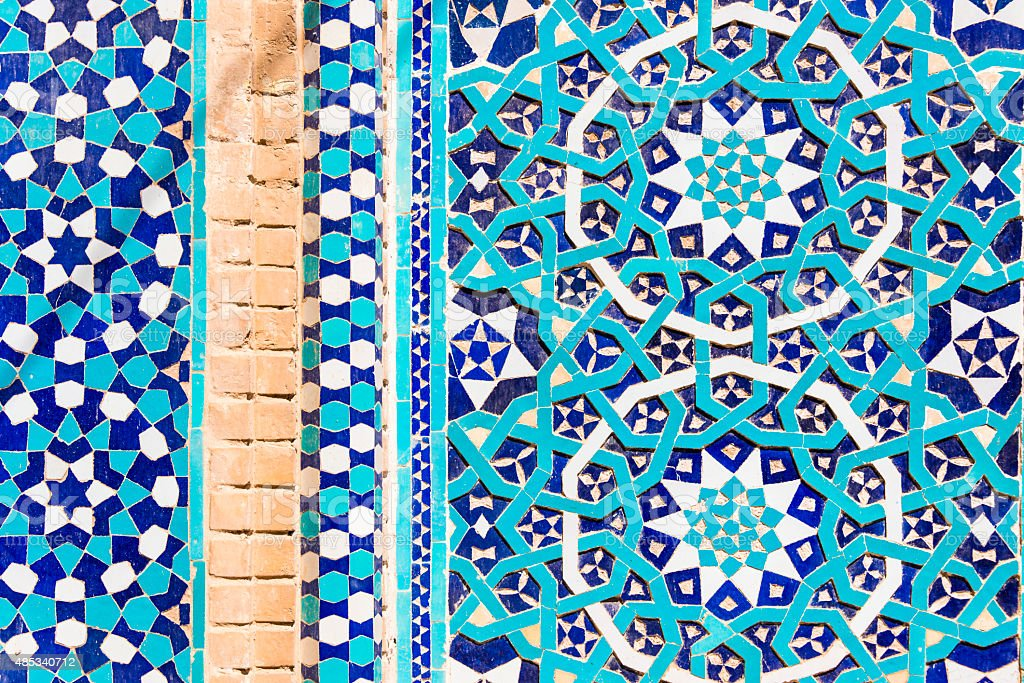 Ancient Iranian Tilework stock photo