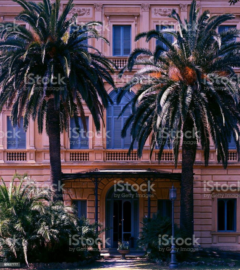 Ancient Italian Hotel stock photo