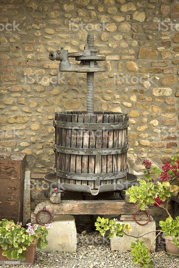 Ancient italian olive-press stock photo