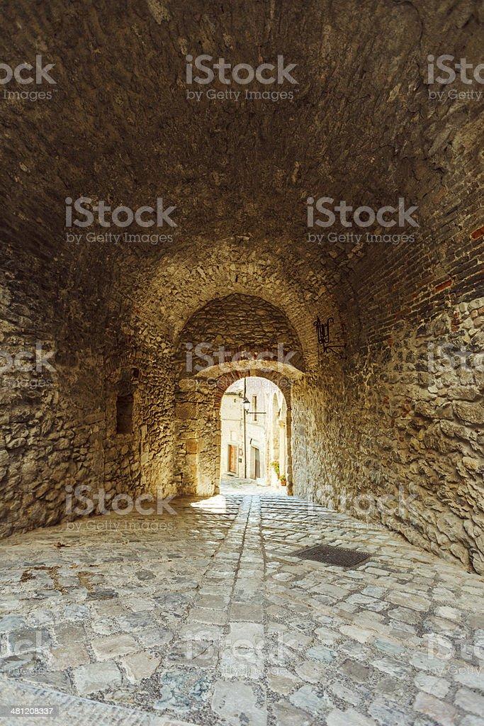 Ancient Italian Town, Pennabilli royalty-free stock photo