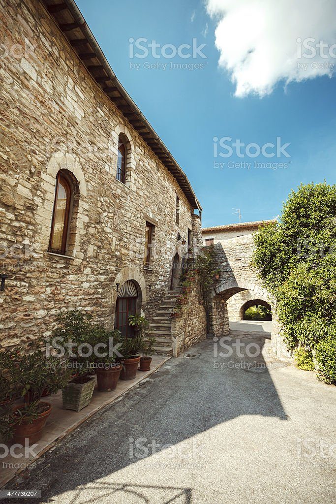 Ancient Italian Town royalty-free stock photo