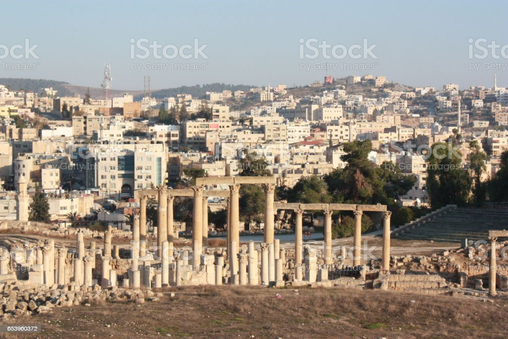 Ancient Jerash in Jordan, Middle East stock photo