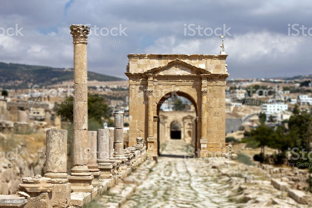 Ancient Jerash. Jordan stock photo