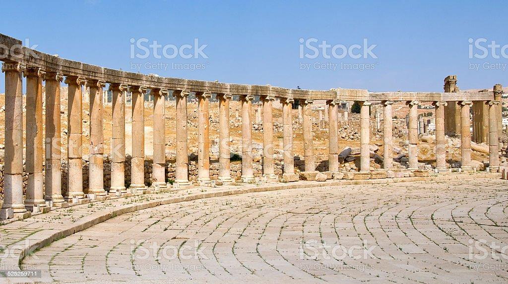 Ancient Jerash, Jordan stock photo