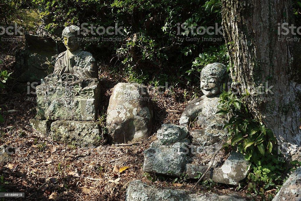 Ancient Jizo Bodhisattva stock photo