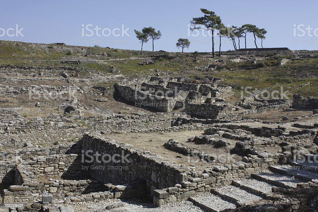 ancient kamiros stock photo