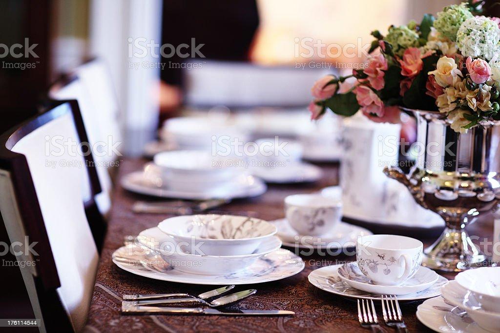 Ancient kitchen service. restaurant. royalty-free stock photo