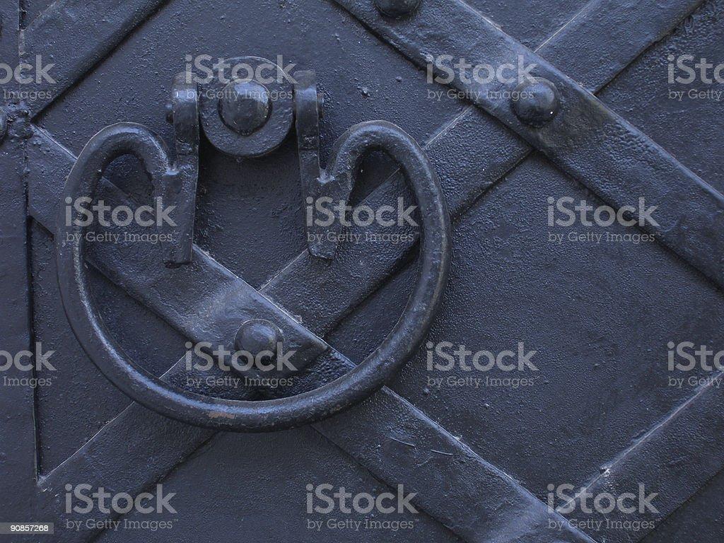 Ancient knocker royalty-free stock photo
