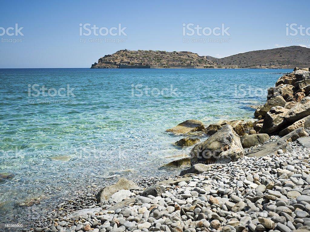 Ancient Leprosy Colony Spinalonga Greece stock photo