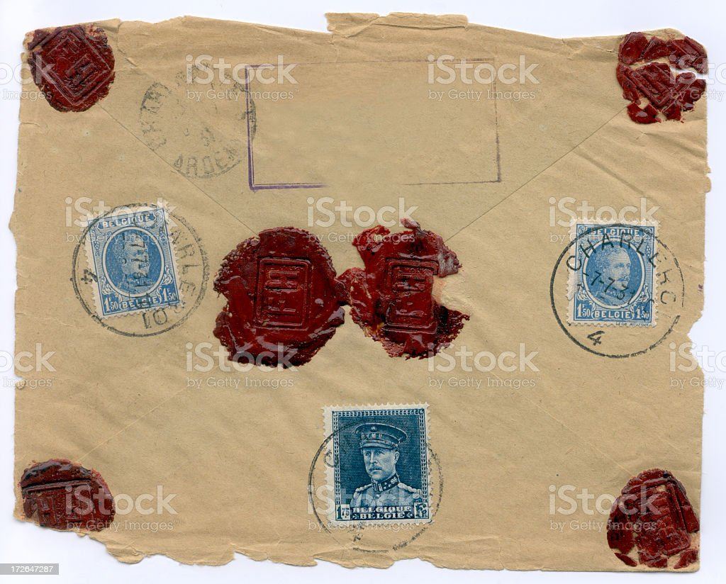 Ancient  letter royalty-free stock photo