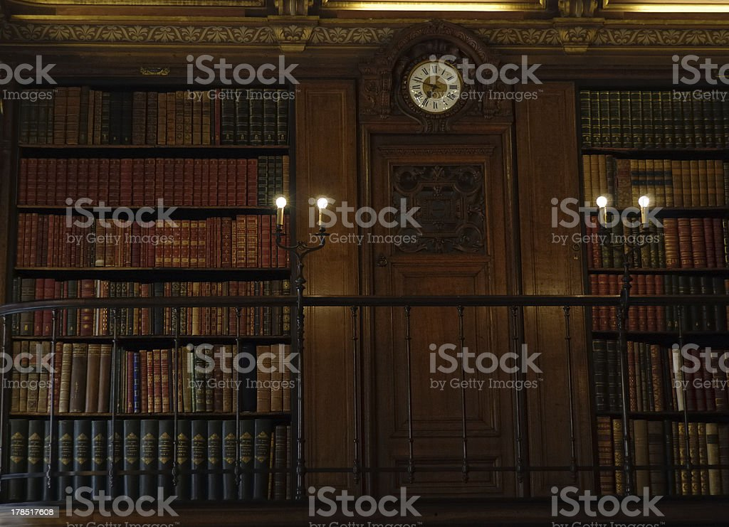 ancient library royalty-free stock photo
