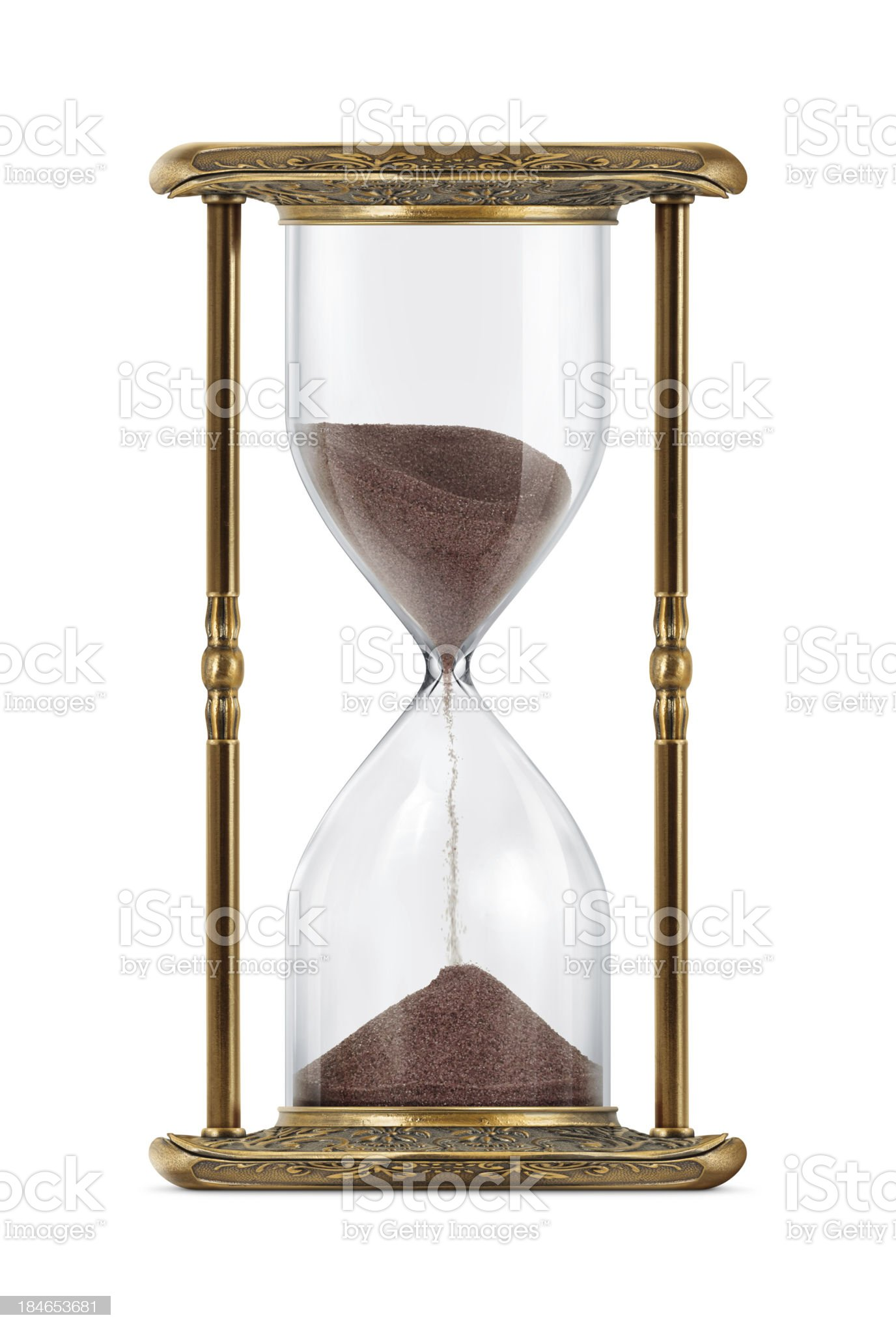 Ancient Looking Hourglass royalty-free stock photo