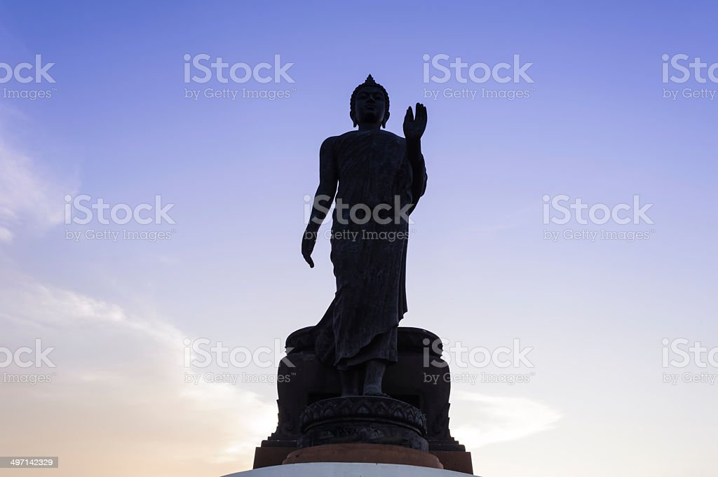 Ancient Lord Buddha Statue royalty-free stock photo