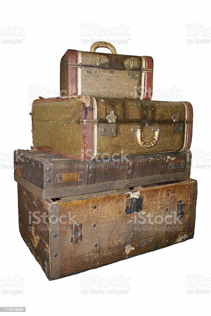 Ancient Luggage royalty-free stock photo