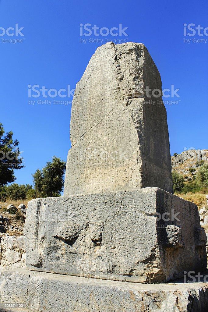 Старинный Lycian слова Стоковые фото Стоковая фотография