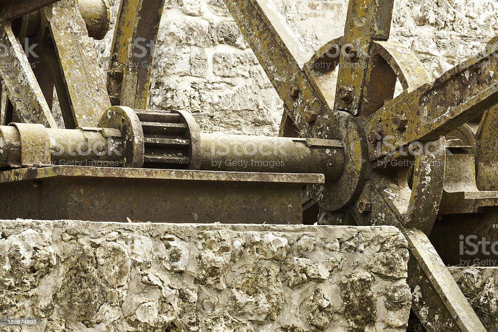 Ancient Machinery Ruins stock photo