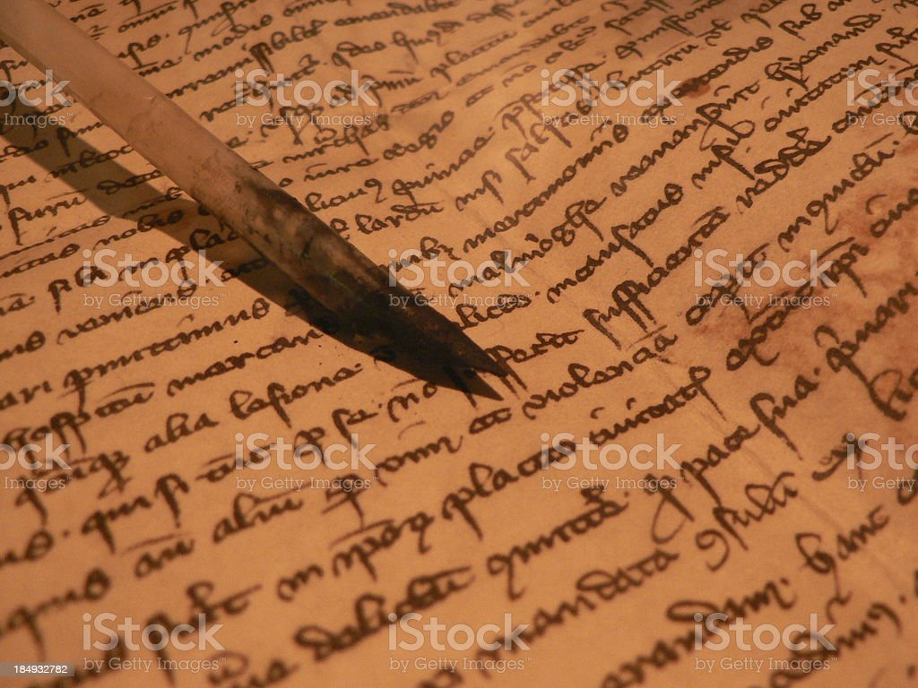 ancient manuscript royalty-free stock photo