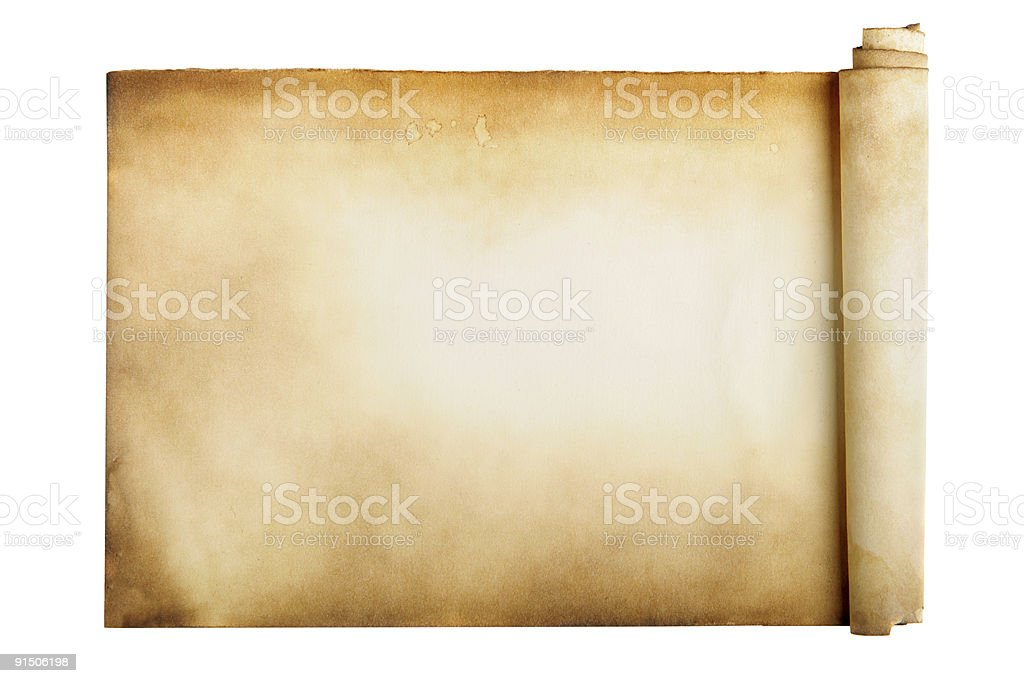 Ancient manuscript stock photo