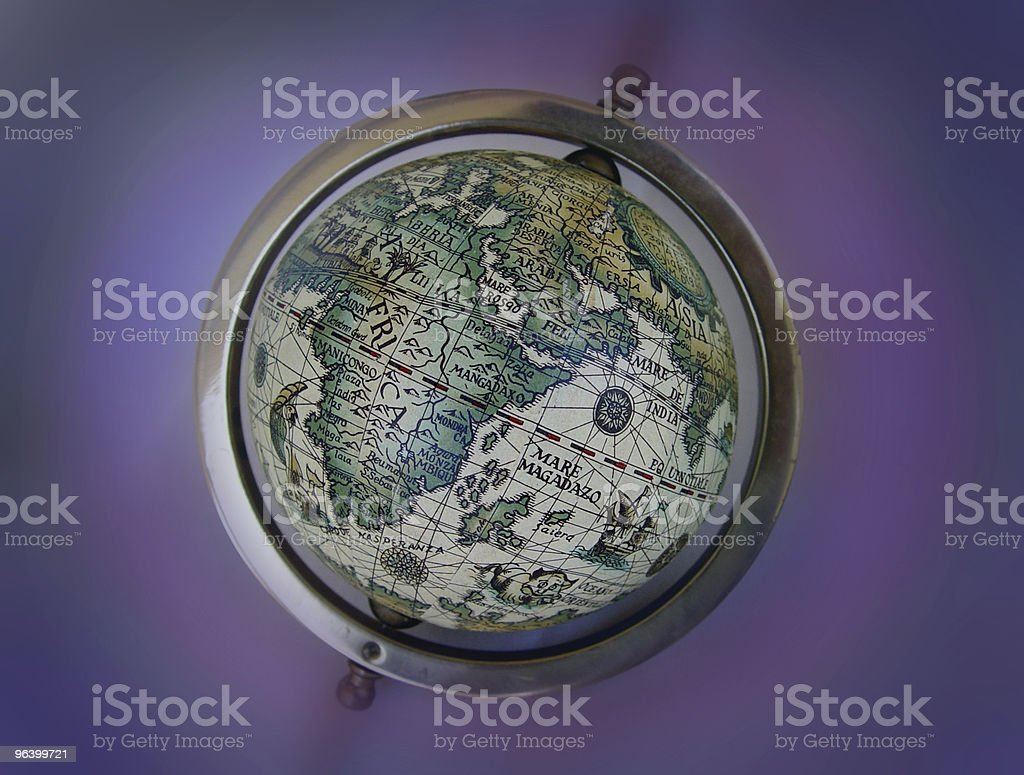 Ancient map globe royalty-free stock photo