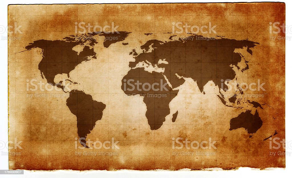 Ancient Map stock photo