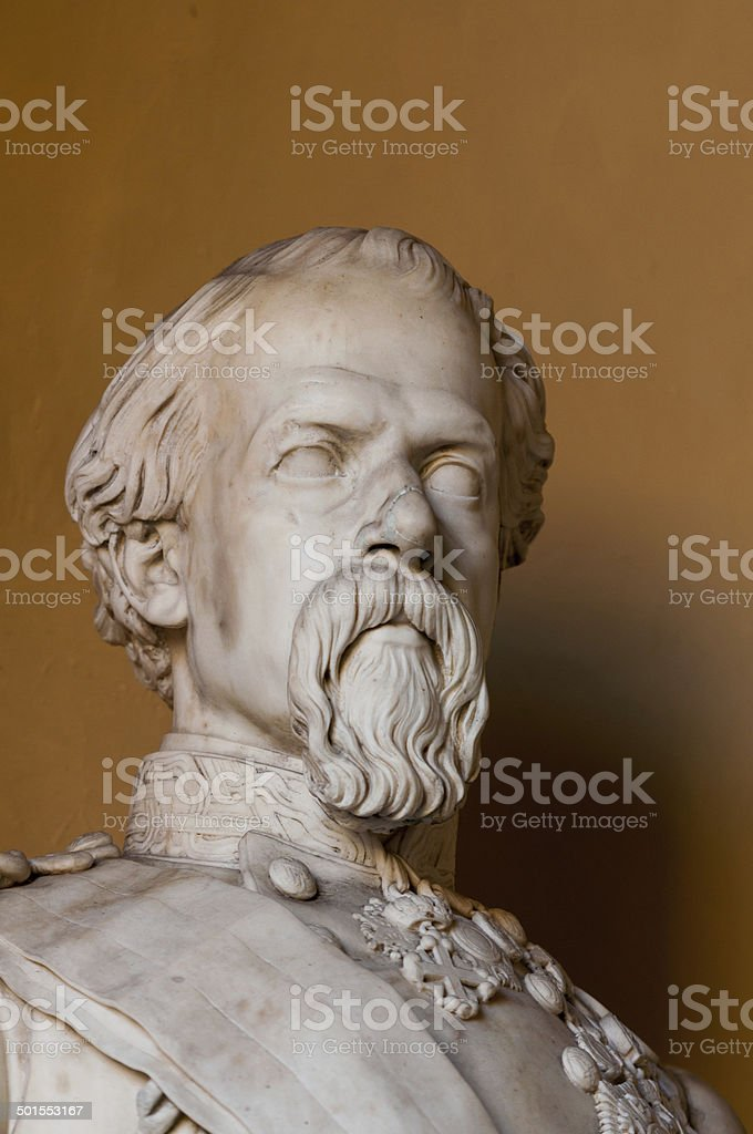 ancient marble bust stock photo