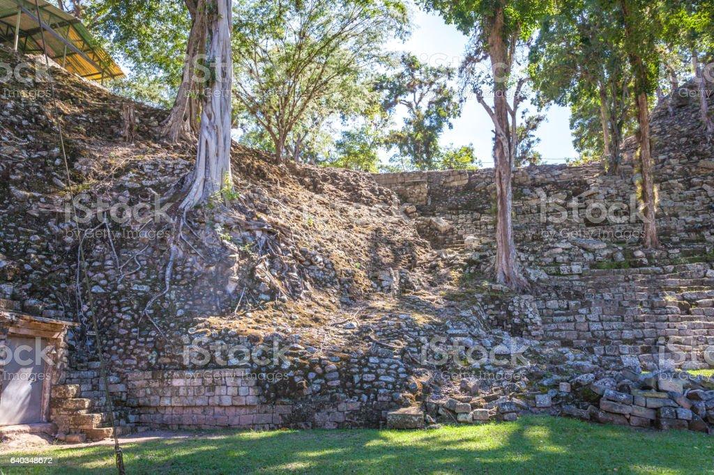 ancient Mayan city of Copan in Honduras stock photo