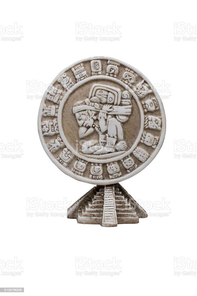 ancient Mayan medallion stock photo