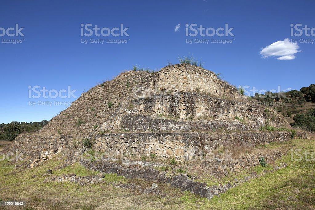 Ancient Mayan pyramid near Cacaxtla royalty-free stock photo