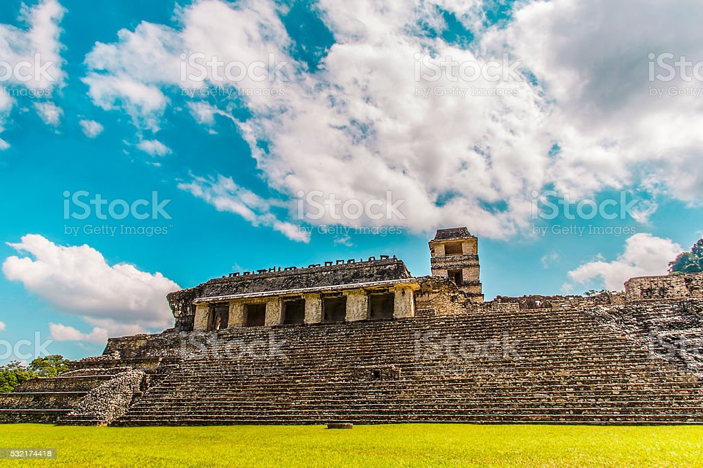 Ancient Mayas stock photo