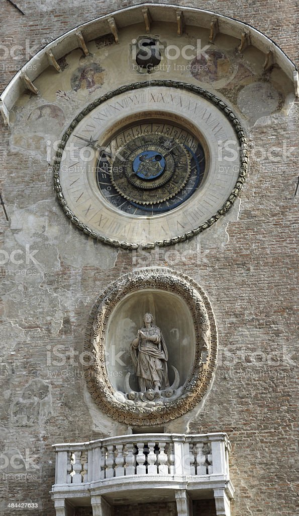 ancient mechanical clock in the Tower stock photo