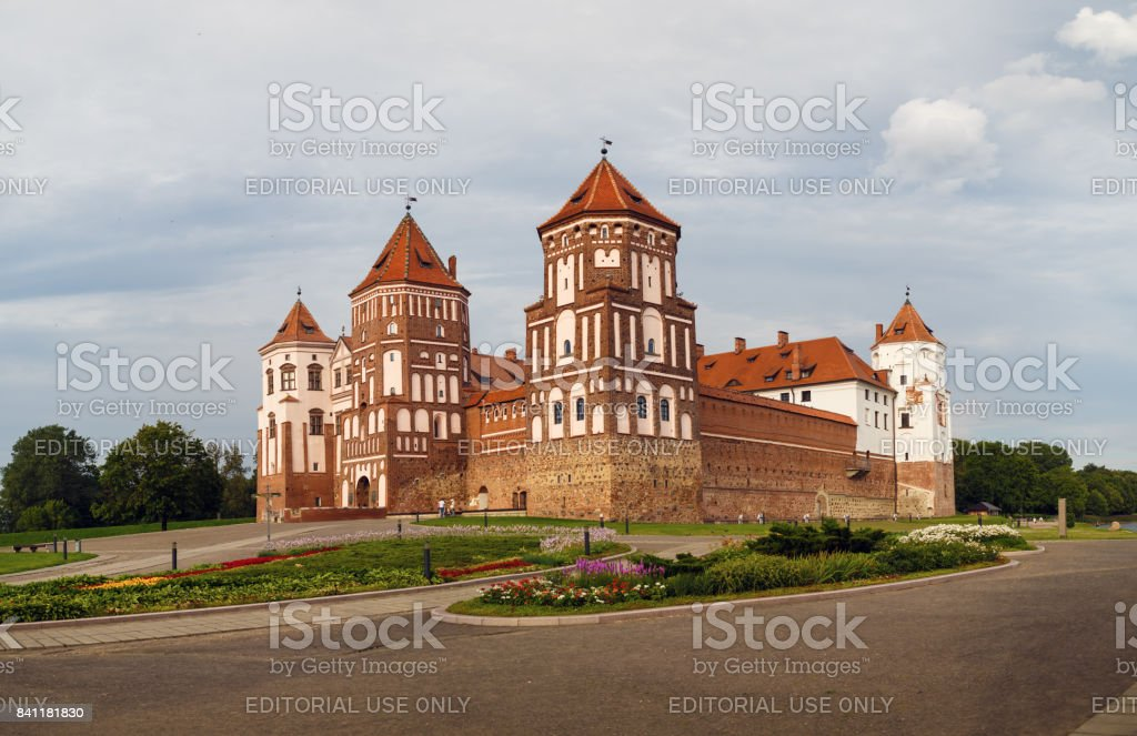 Ancient medieval castle stock photo