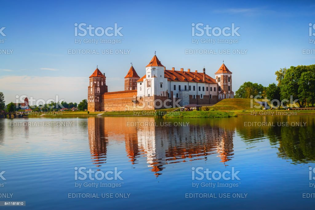 Ancient medieval fortress stock photo
