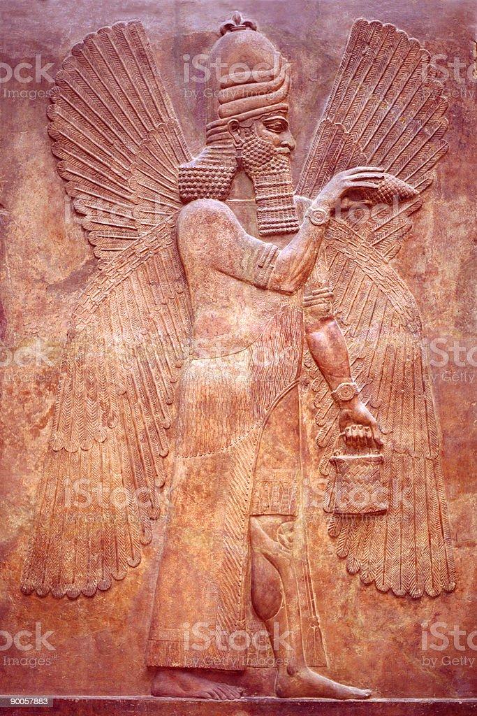 Ancient Mesopotamian Relief stock photo
