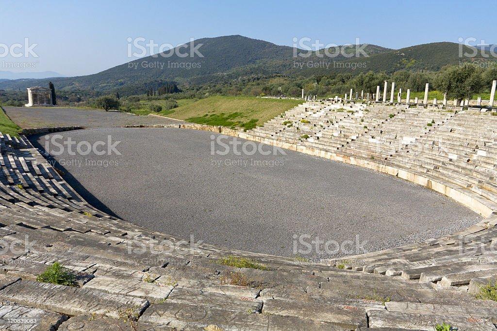 Ancient Messene near Kalamata, Greece stock photo
