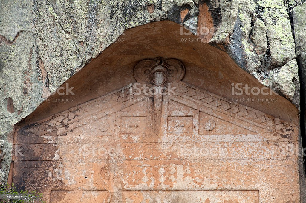 Ancient Midas City stock photo