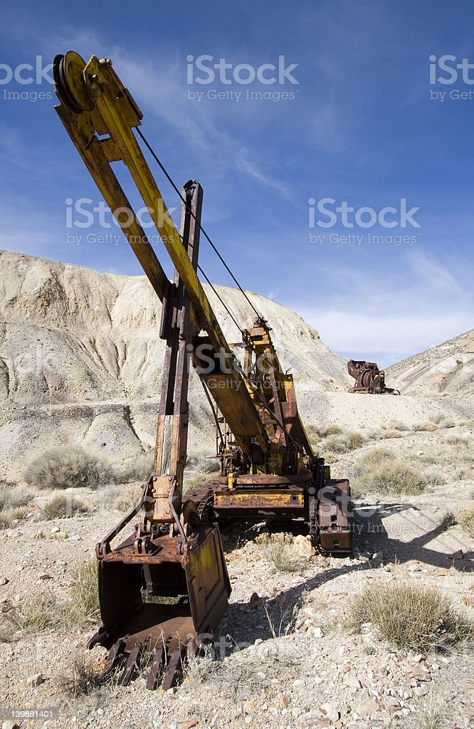 Ancient mining industry royalty-free stock photo