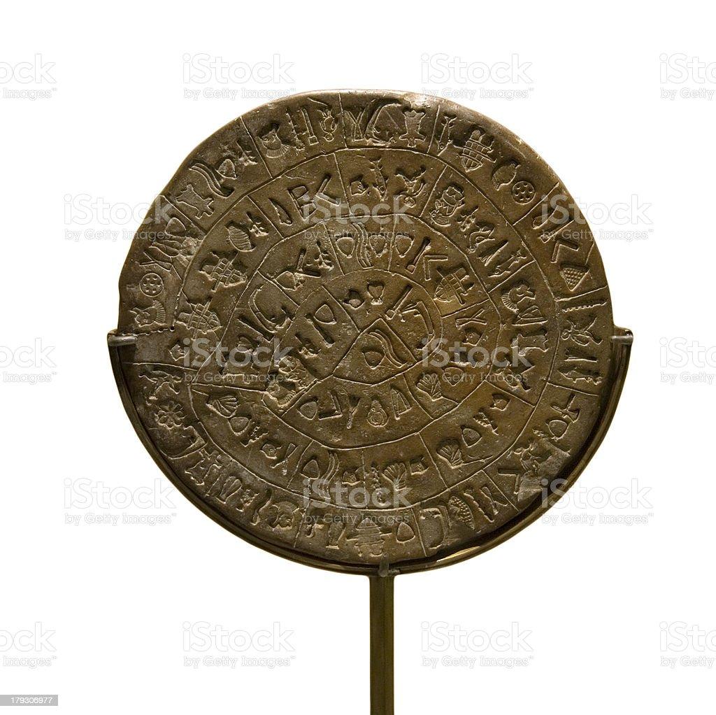 Ancient Minoan Disk stock photo