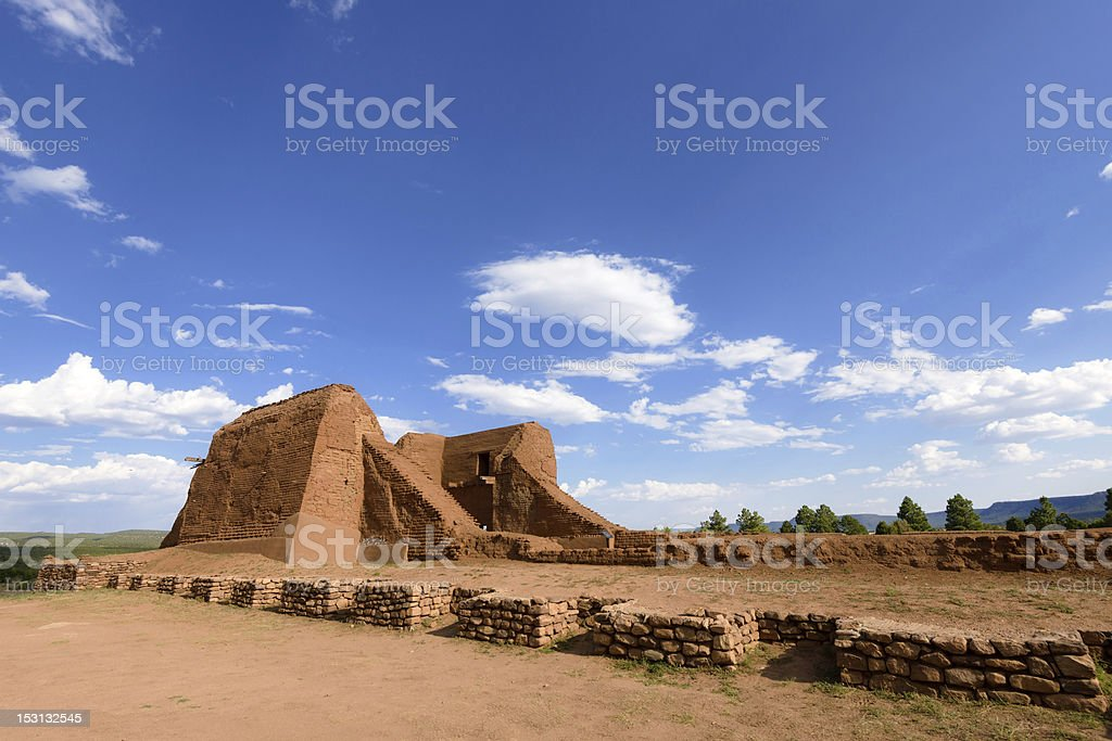 Ancient mission stock photo