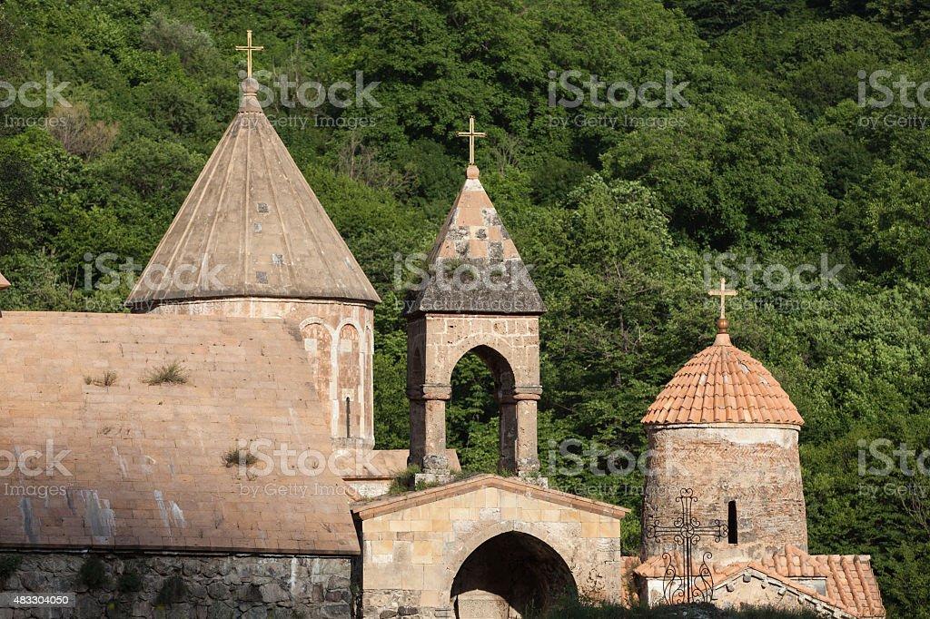 Ancient monastery in Dadivank, Nagorno Karabakh stock photo