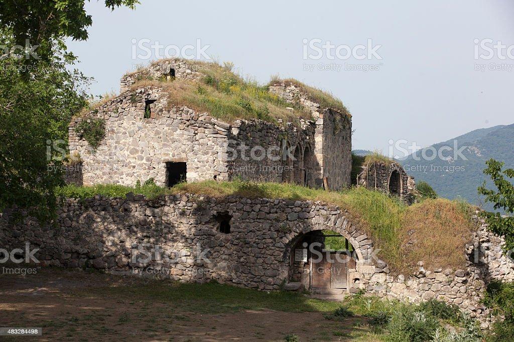 Ancient monastery in Kolatak, Nagorno Karabakh stock photo
