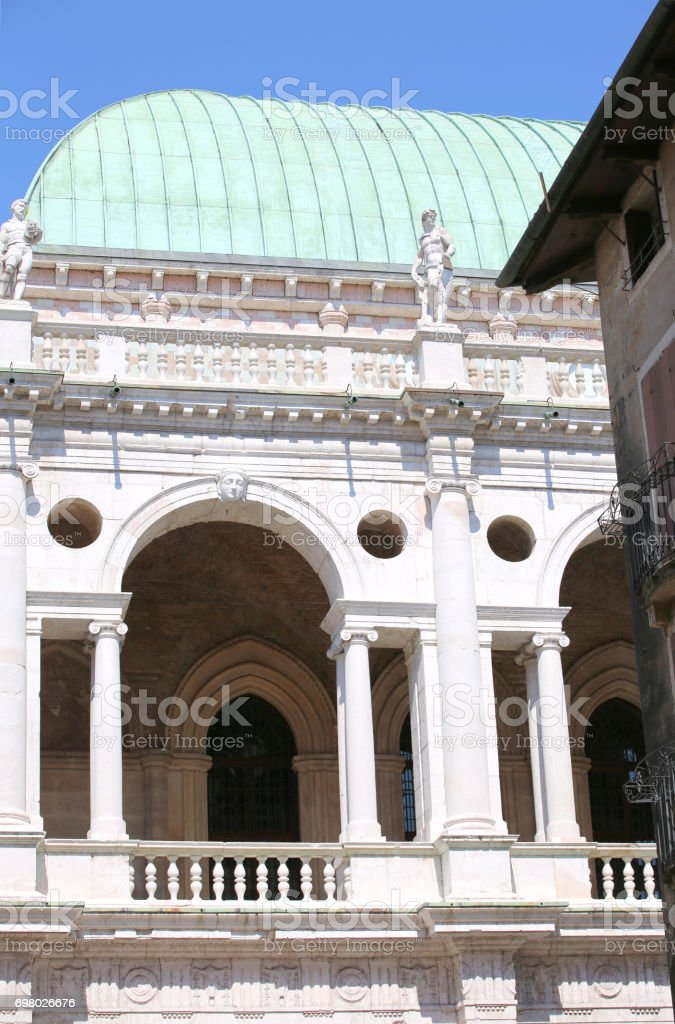 ancient monument called Basilica Palladiana in Vicenza City in N stock photo