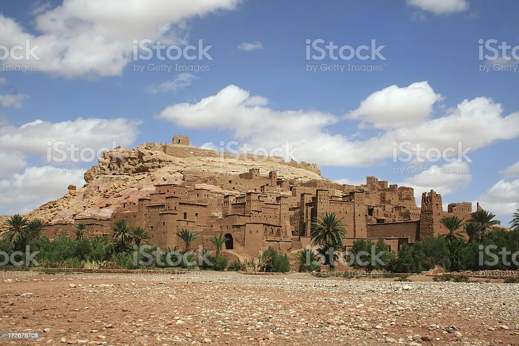 Ancient Moroccan Kasbah: Ait Benhaddou royalty-free stock photo