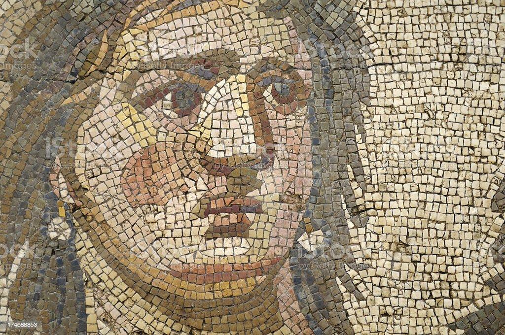 Ancient Mosaic of Tethys royalty-free stock photo